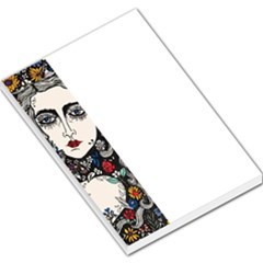 Flower Woman Large Memo Pad by DryInk