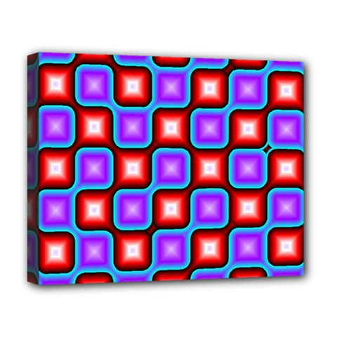 Connected Squares Pattern Deluxe Canvas 20  X 16  (stretched) by LalyLauraFLM