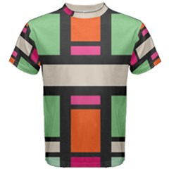 Rectangles Cross Men s Cotton Tee