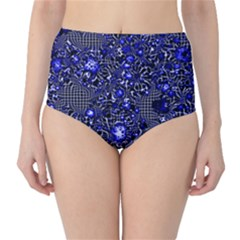 Sci Fi Fantasy Cosmos Blue High-Waist Bikini Bottoms by ImpressiveMoments