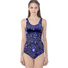 Sci Fi Fantasy Cosmos Blue Women s One Piece Swimsuits by ImpressiveMoments