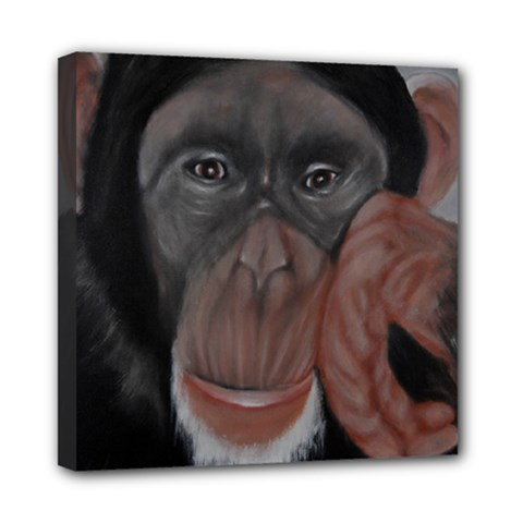 The Thinker Mini Canvas 8  X 8  by timelessartoncanvas