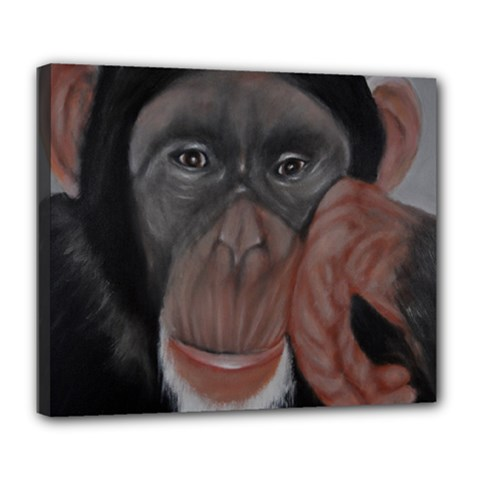 The Thinker Deluxe Canvas 24  X 20   by timelessartoncanvas