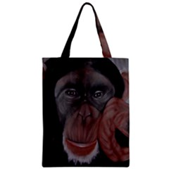 The Thinker Zipper Classic Tote Bags by timelessartoncanvas