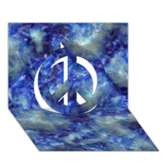 Alien DNA Blue Peace Sign 3D Greeting Card (7x5)