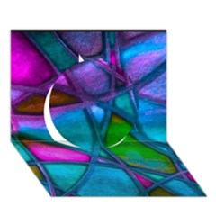 Imposant Abstract Teal Circle 3d Greeting Card (7x5)  by ImpressiveMoments