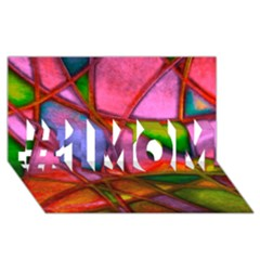 Imposant Abstract Red #1 Mom 3d Greeting Cards (8x4)