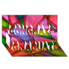 Imposant Abstract Red Congrats Graduate 3d Greeting Card (8x4)