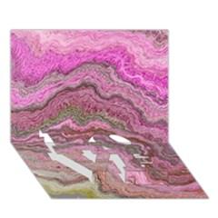 Keep Calm Pink Love Bottom 3d Greeting Card (7x5)