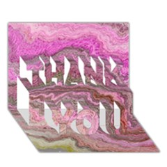 Keep Calm Pink Thank You 3d Greeting Card (7x5)
