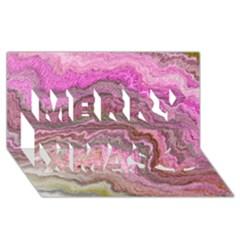 Keep Calm Pink Merry Xmas 3d Greeting Card (8x4)