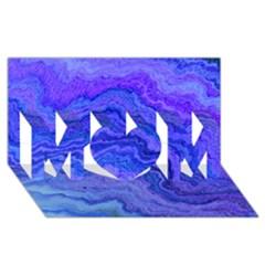 Keep Calm Blue Mom 3d Greeting Card (8x4)