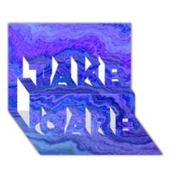 Keep Calm Blue Take Care 3d Greeting Card (7x5)