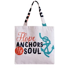 Hope Anchors The Soul Nautical Quote Grocery Tote Bags by CraftyLittleNodes