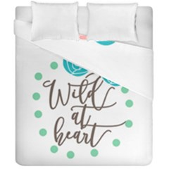 Wild At Heart Flowers Duvet Cover (double Size) by CraftyLittleNodes