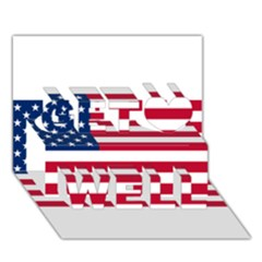 Usa1 Get Well 3d Greeting Card (7x5)