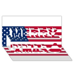Usa1 Merry Xmas 3d Greeting Card (8x4)  by ILoveAmerica