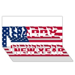 Usa1 Happy New Year 3d Greeting Card (8x4)