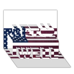 Usa4 Get Well 3d Greeting Card (7x5)