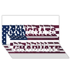 Usa4 Congrats Graduate 3d Greeting Card (8x4)
