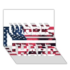 Usa5 Work Hard 3d Greeting Card (7x5)