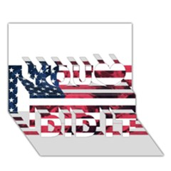 Usa5 You Did It 3d Greeting Card (7x5)