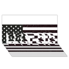 Usa6 Best Sis 3d Greeting Card (8x4)
