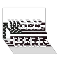 Usa6 Work Hard 3d Greeting Card (7x5)