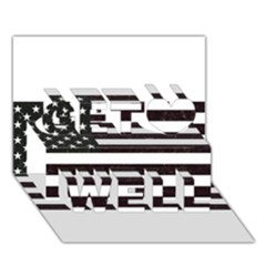 Usa6 Get Well 3d Greeting Card (7x5)