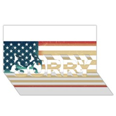 Usa7 Sorry 3d Greeting Card (8x4)