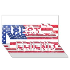 Usa8 Best Friends 3d Greeting Card (8x4)