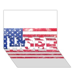 Usa8 Hope 3d Greeting Card (7x5)