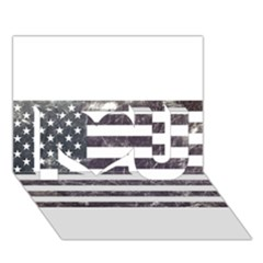 Usa9 I Love You 3d Greeting Card (7x5)