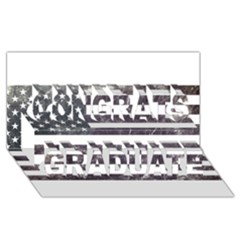 Usa9 Congrats Graduate 3d Greeting Card (8x4)