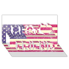 Usa99 Best Friends 3d Greeting Card (8x4)