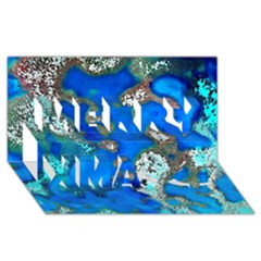 Cocos Reef Sinkholes Merry Xmas 3d Greeting Card (8x4)  by CocosBlue