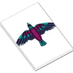 Stained Glass Bird Illustration  Large Memo Pads