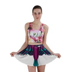 Stained Glass Bird Illustration  Mini Skirts