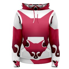 Fox Logo Red Gradient  Women s Pullover Hoodies by carocollins
