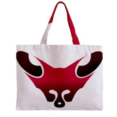 Fox Logo Red Gradient  Zipper Tiny Tote Bags by carocollins