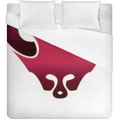 Fox Logo Red Gradient  Duvet Cover Single Side (kingsize)