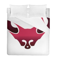 Fox Logo Red Gradient  Duvet Cover (twin Size) by carocollins