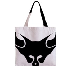 Black Fox Logo Zipper Grocery Tote Bags by carocollins