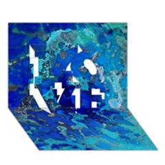 Cocos Blue Lagoon Love 3d Greeting Card (7x5)  by CocosBlue