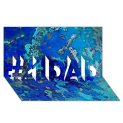 Cocos Blue Lagoon #1 Dad 3d Greeting Card (8x4)