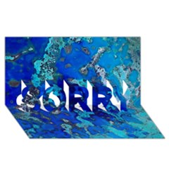 Cocos Blue Lagoon Sorry 3d Greeting Card (8x4)