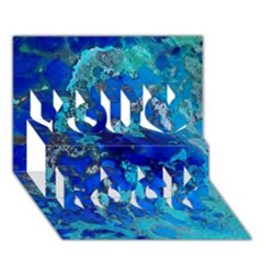 Cocos Blue Lagoon You Rock 3d Greeting Card (7x5)