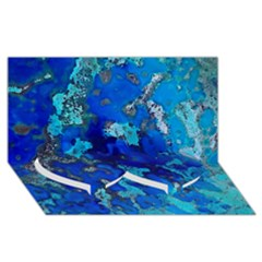 Cocos Blue Lagoon Twin Heart Bottom 3d Greeting Card (8x4)  by CocosBlue