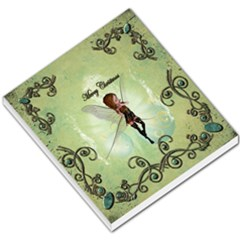 Cute Elf Playing For Christmas Small Memo Pads