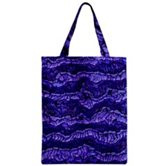 Alien Skin Blue Zipper Classic Tote Bags by ImpressiveMoments